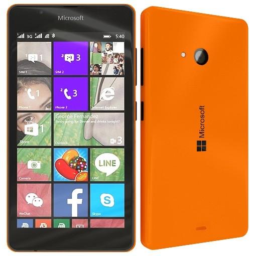 microsoft lumia 540 orange dual sim mobilni telefoni onlineshop. Black Bedroom Furniture Sets. Home Design Ideas
